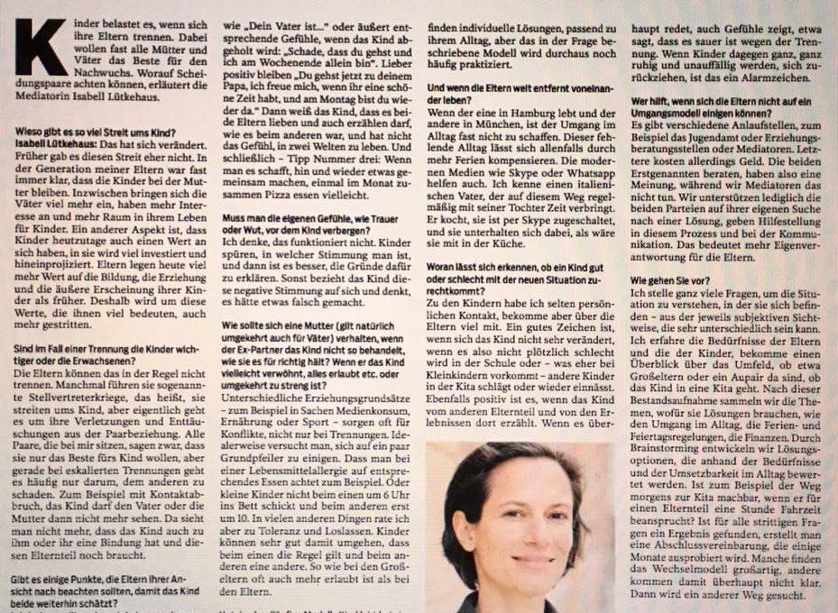 Isabell Lütkehaus Interview Mediation Berlin
